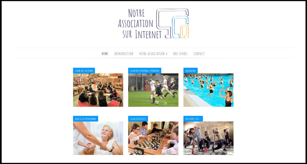 homepage nore association sur internet