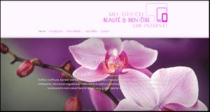 homepage mes services beauté et bien être sur internet