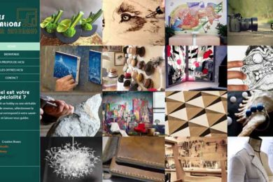 homepage mes créations sur internet