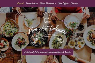 homepage mon art culinaire